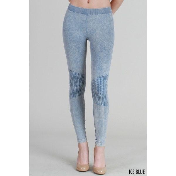 0eba37c908863 Nikibiki Vintage Knee Shirring Long Leggings | Products | Blue ...