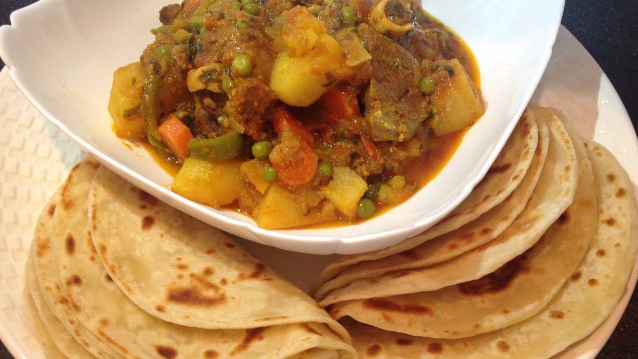 Maraq iyo sabaayad | chapati with lamb curry