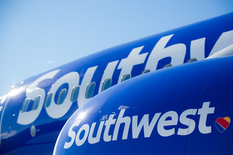 southwest airlines reveals new aircraft livery, airport branding and logo