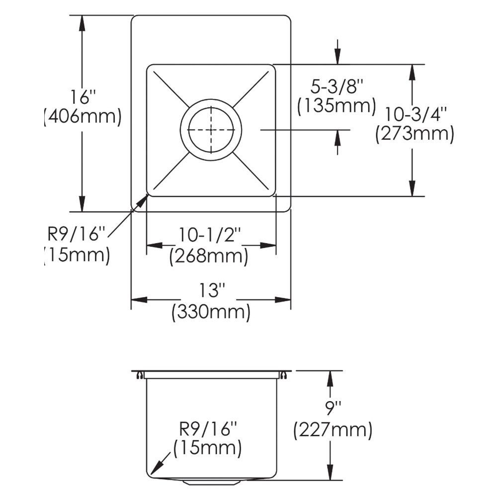Stainless Steel Bar Sink Kit 13 Includes Bottom Grid Elkay Ectsr13169bg0 Bar Sink Stainless Steel Bar Sink