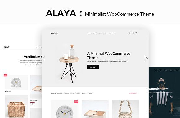 Alaya Minimalist WooCommerce Theme By ThemeVan On Creativemarket - Minimalist website template