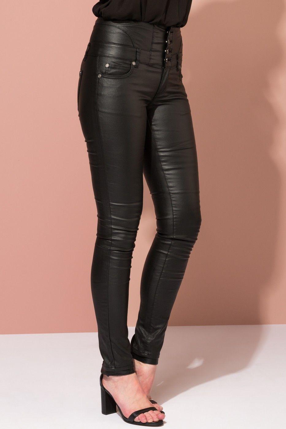 3c37ad41a Floyd by Smith Angelina 513 bukse svart skinnbukser til dame - Floyd ...