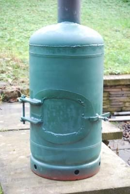 Home made gas bottle stove.