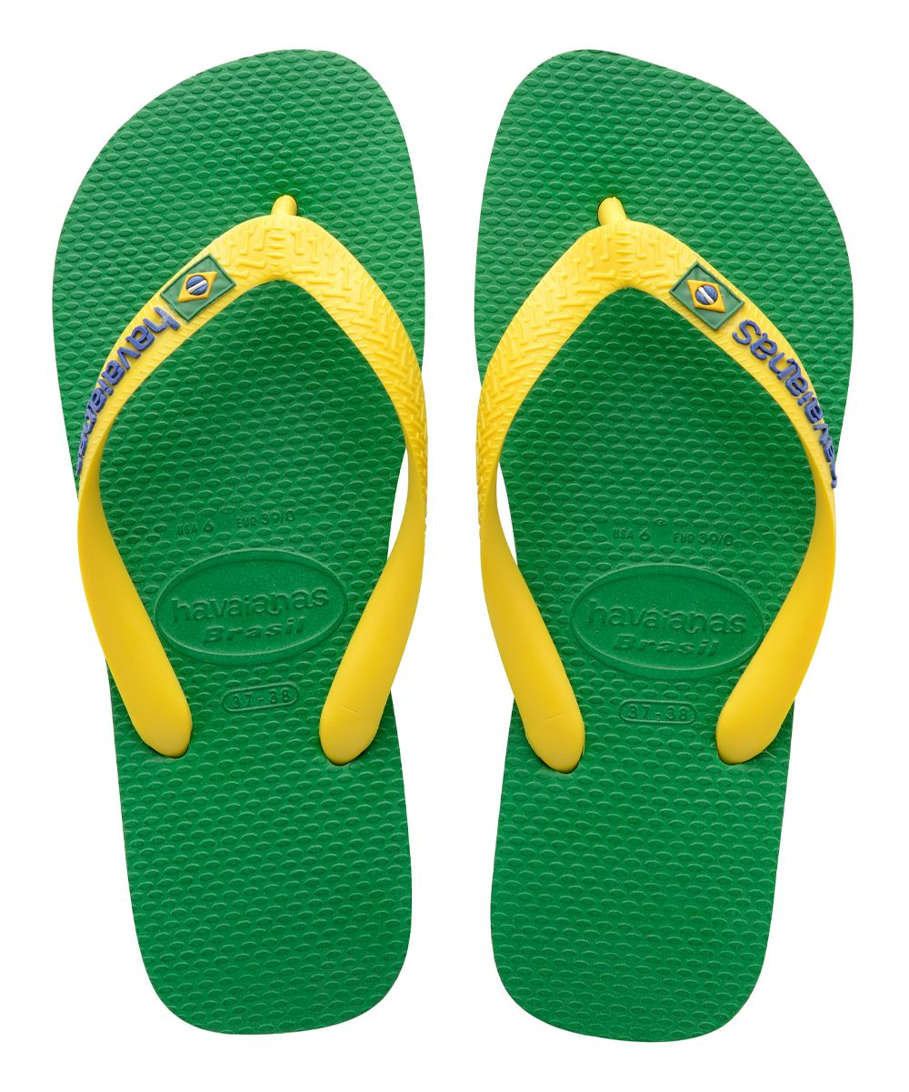 16830b3985570 Green Brazil Logo Flip-Flop - Men