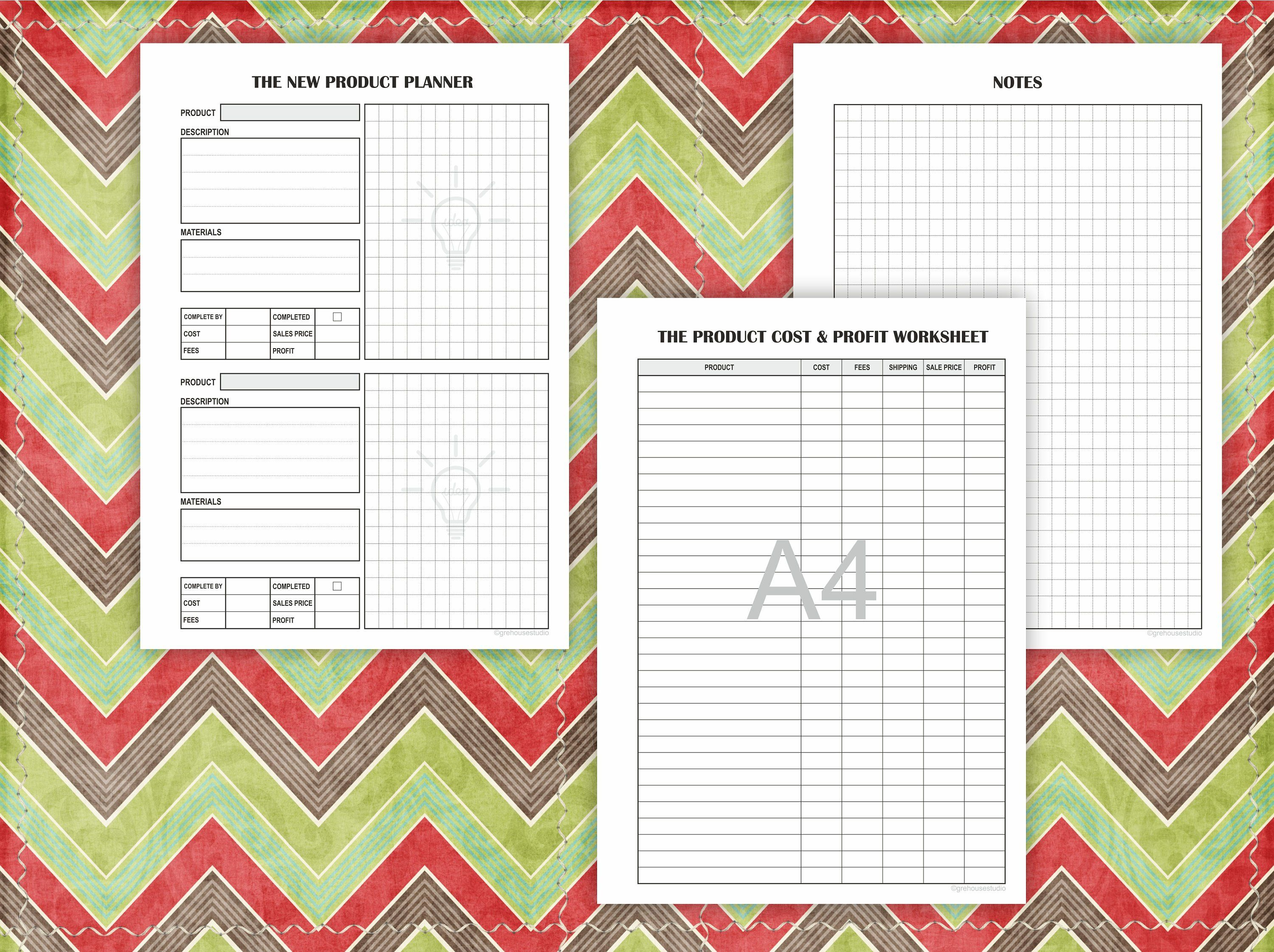 Business Planner Printable Product Inventory Order