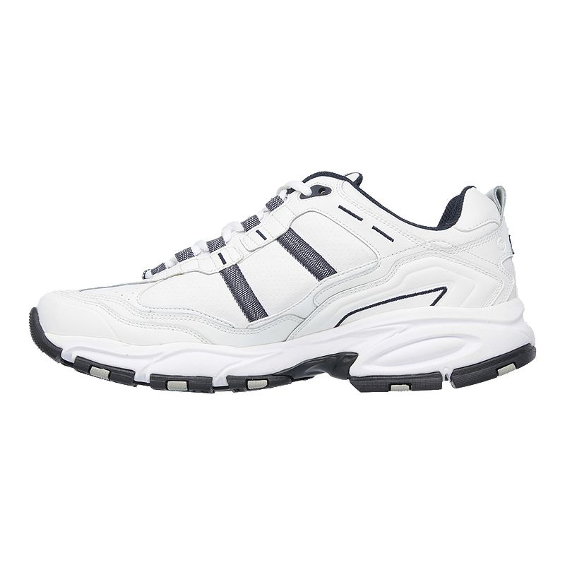 ba6c3c211b5c Skechers Men s Vigor 2.0 Wide Walking Shoes - White Navy in 2019 ...
