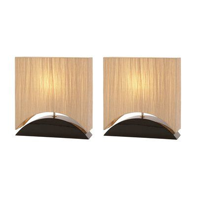 Aspire Home Accents 60012 Mako Table Lamps (Set of 2) This set by Aspire Home Accents is illuminated by two 60-watt frosted incandescent bulbs.  Mako Table