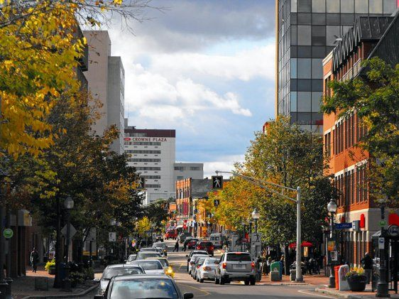 Main Street in Moncton, New Brunswick.  Beautiful town.   Visited summer of 2012.  Adam lived here growing up and also Toronto where he was born.  Loved Moncton!