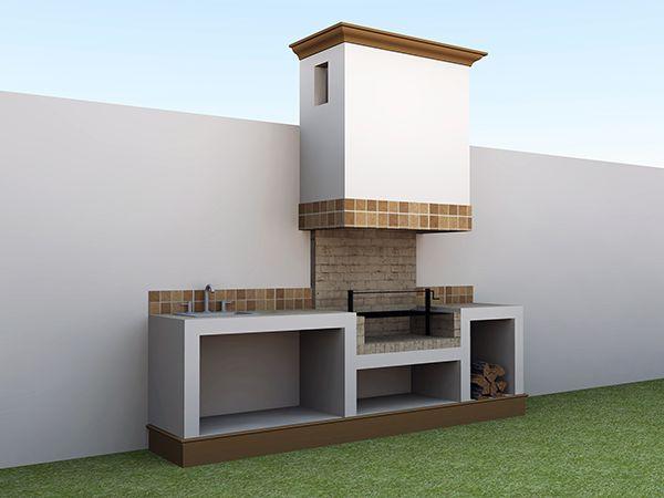 Asador de pared pinteres for Asador en patio pequeno