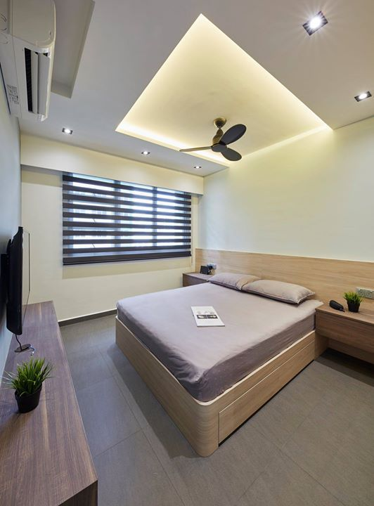 Bedroom Hdb Furniture: 4 Room BTO HDB Singapore Interior Design