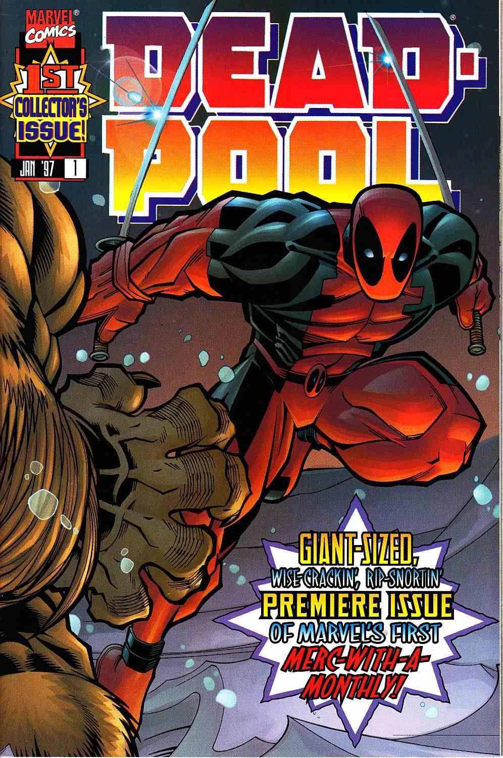 Deadpool 1 Near Mint Plus 9 6 Marvel Comic Deadpool Comic Deadpool Comics