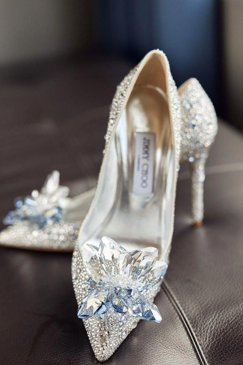 bbe1a7702c83 Talk about glass slippers! These Jimmy Choo beauties were what our stunning  bride Lindsi wore for her luxe fairytale wedding  JimmyChoo