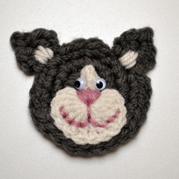 Cat Applique Crochet Pattern Cat Applique Crochet And Crochet