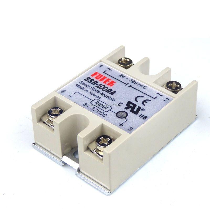 1PCS SSR100DA SSR-100DA Manufacturer 100A ssr relay,input 3-32VDC ...