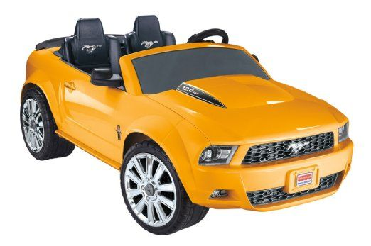 fisher price power wheels ford mustang yellow amazon exclusive