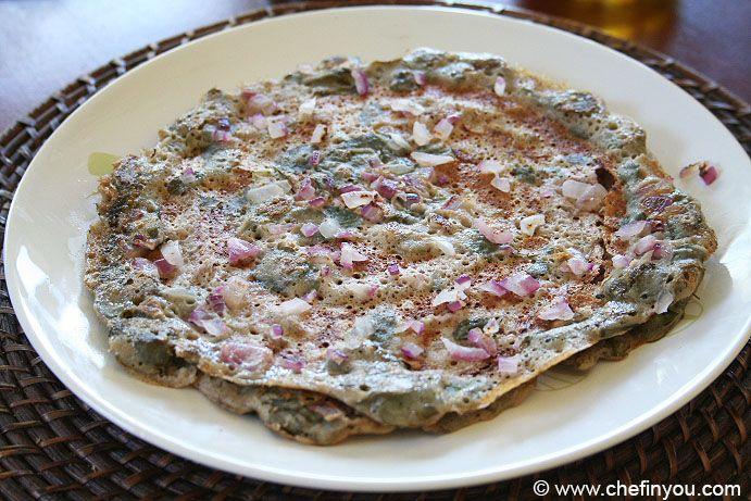 Moringa Blätter Rezepte |  Wie drumstick Blätter dosa |  Murungai keerai rezepte