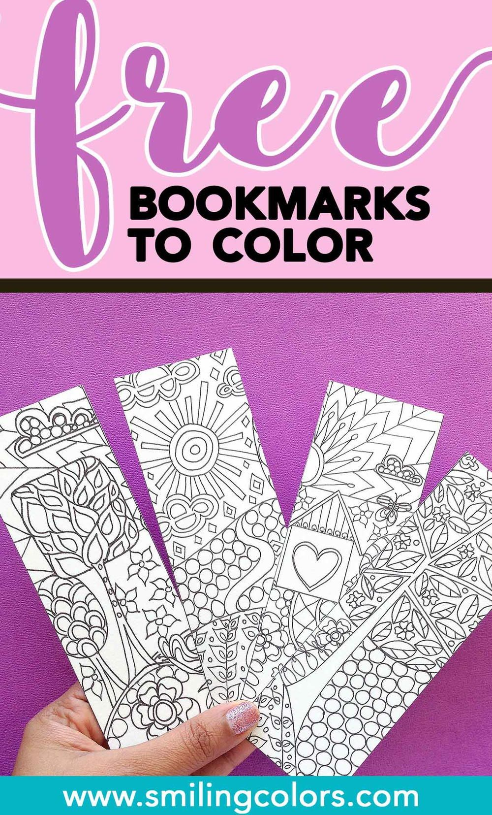 Bookmarks to Color | DIY Now | Pinterest | Bookmarks, Free printable ...