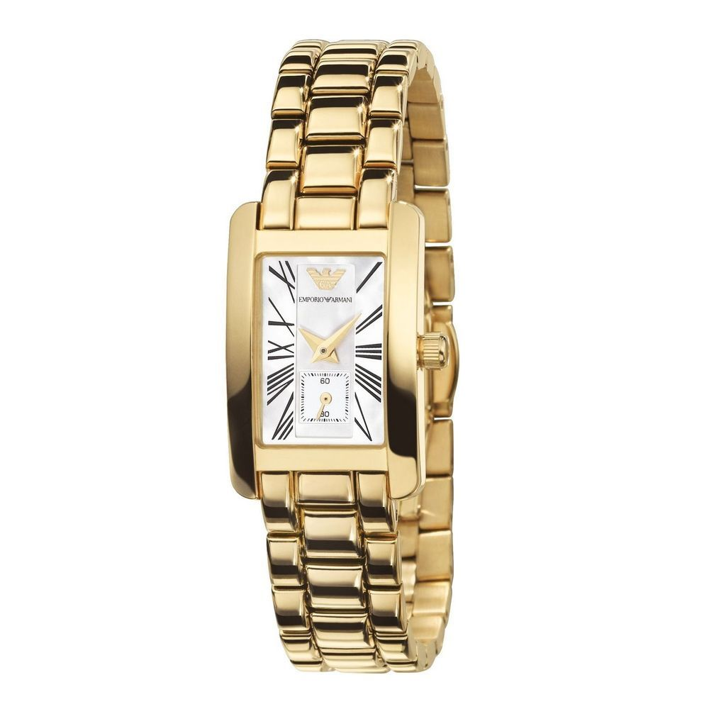 Armani Uhr Damen Gold New Emporio Armani Luxury Watch Women Ar0175 Gold Color Stainless