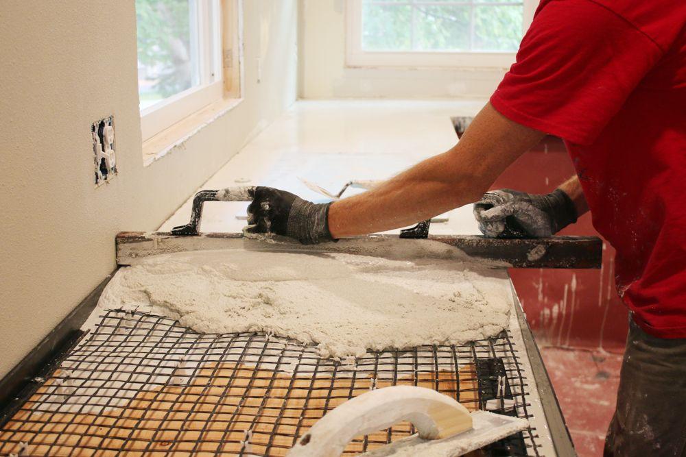 DIY Pour In Place Concrete Countertops U2013 Part 1 | Concrete Countertops,  Countertops And Concrete