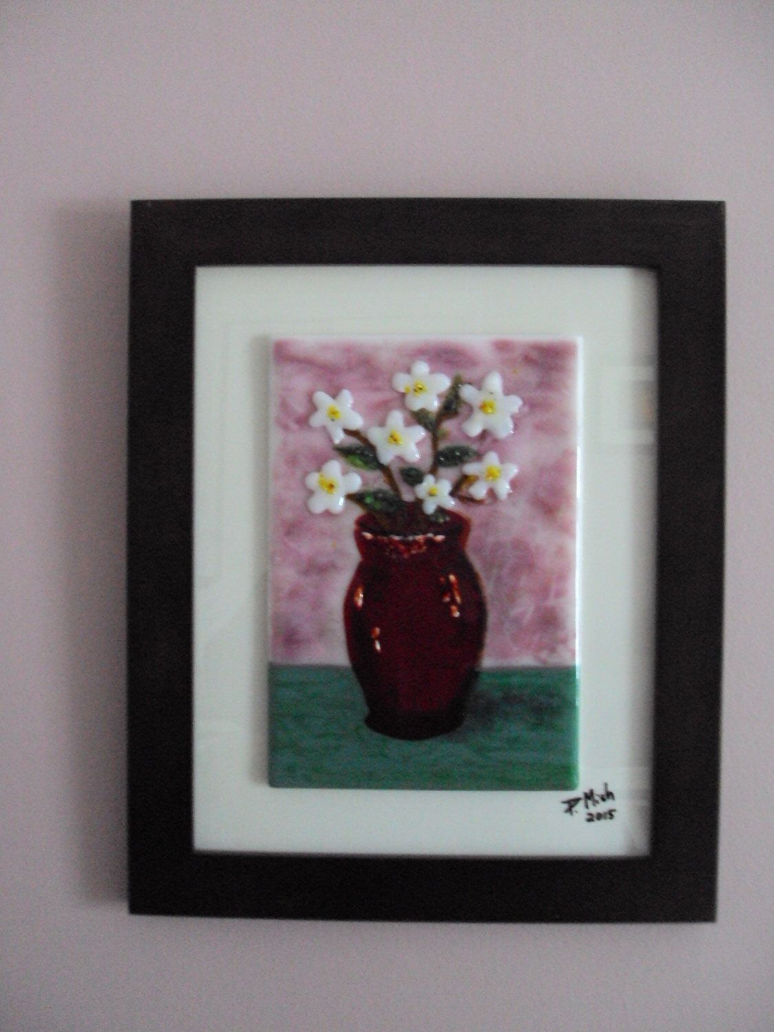 Fused glass wall art. \