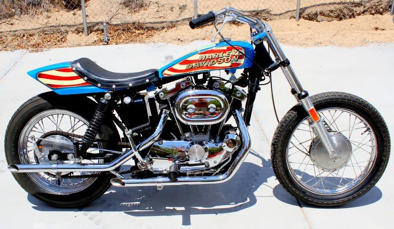 Knievel S 76 Ironhead Could Be Yours: EVEL KNIEVEL Harley-Davidson STUNT MOTORCYCYLE