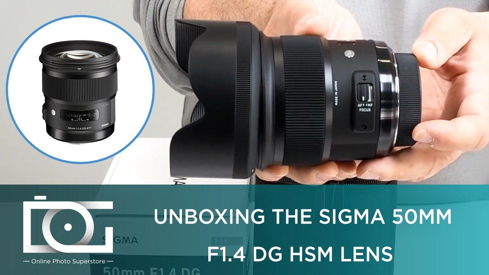 Unboxing The Sigma 50mm F 1 4 Dg Hsm Lens For Nikon Canon And Sony Dslr Cameras Sony Dslr Camera Dslr Dslr Camera