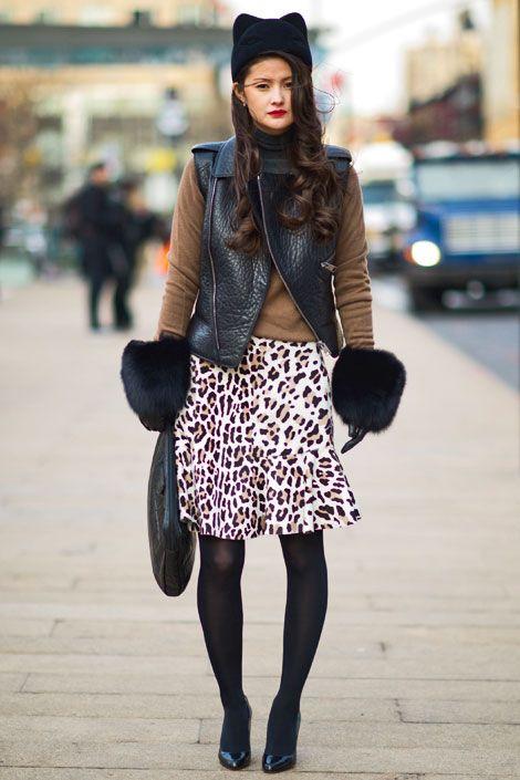cc165667469 Peony Lim wears a Hakaan vest and Alaïa skirt. Fur Hat World