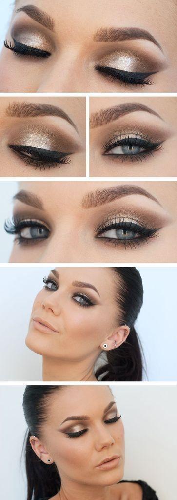 Maquillaje De Noche Incluye Pestanas Postizas 25 Beauty Makeup Eye Makeup Eye Make Up