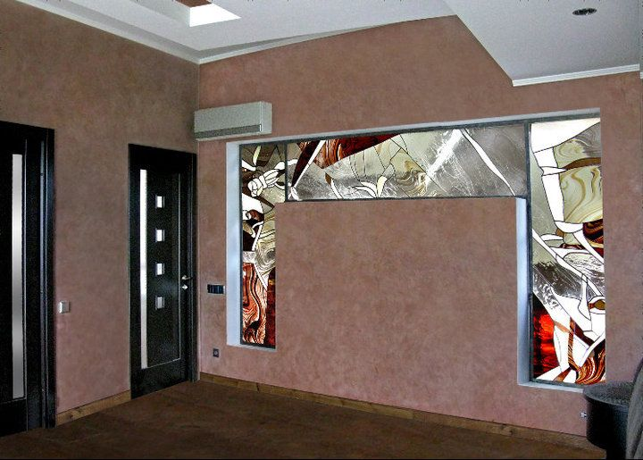 Stained Glass As Partition In Niche Vetrate Artistiche