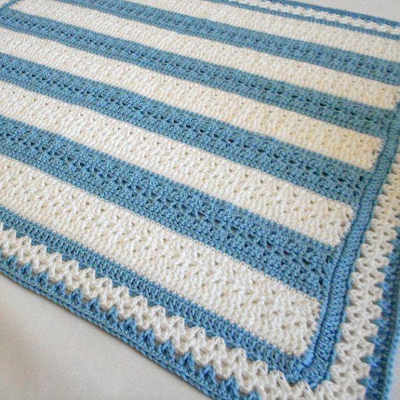 Crochet Pattern - Fairfax Baby Afghan Pattern - Babyghan Afghan ...