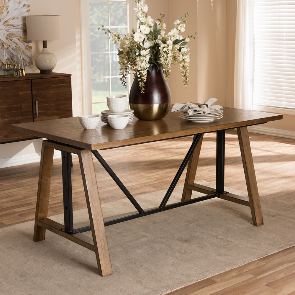 idabel dark brown wood modern desk with glass top modern home