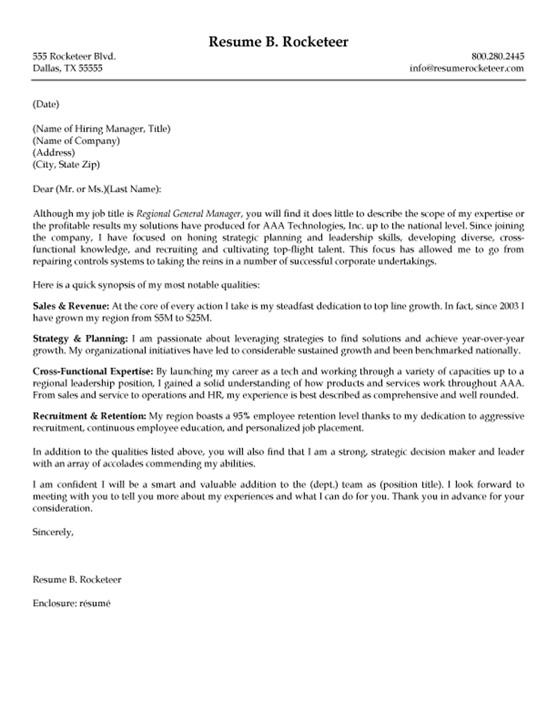 Executive Cover Letter For Resume Examples - Executive Cover Letter ...
