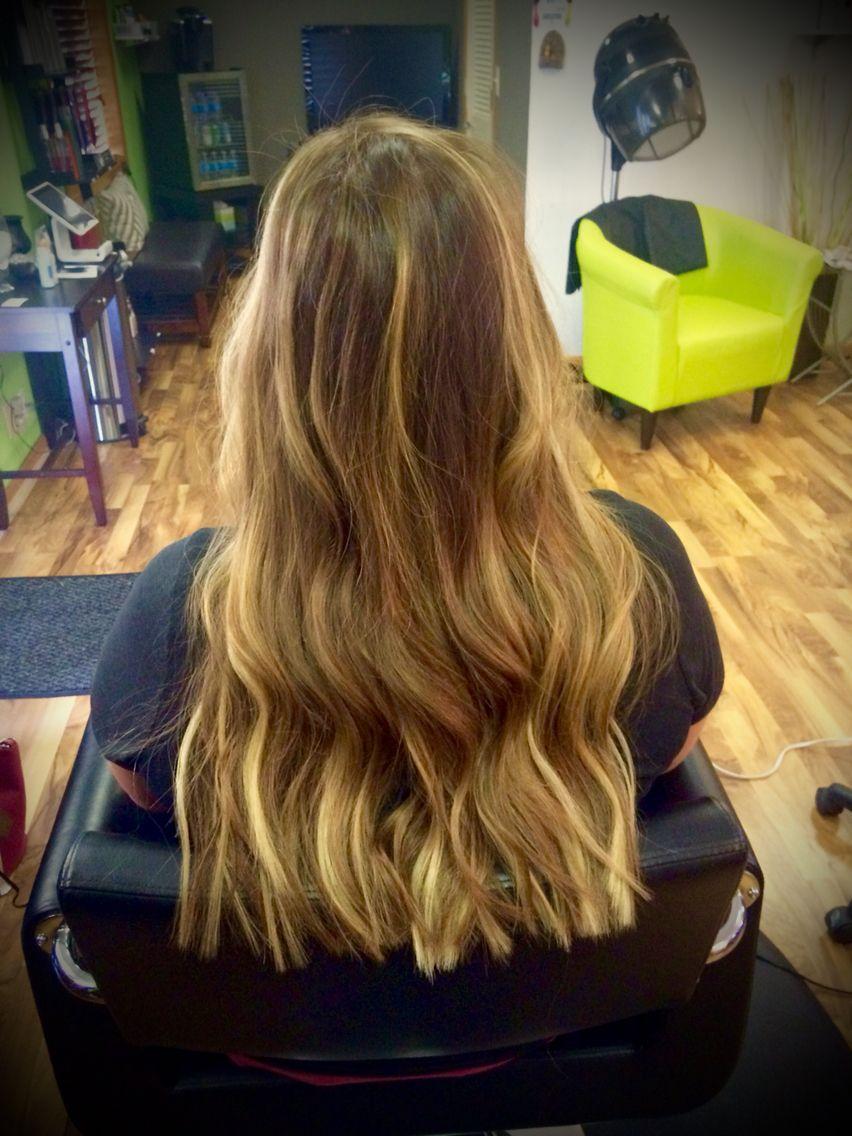 Medium Blonde Painted Balayage With Norhe Goddess Fusion Hair