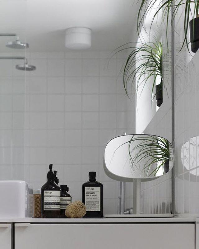 Flip mirror, Normann Copenhagen, bathroom inspiration, white, scandinavian design. Crioll design shop / studio Eindhoven