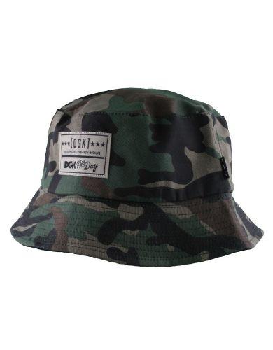 1675c182c6668 DGK Universe Bucket Reversible Hat   Camo Black