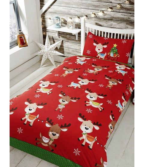 Rudolph  Friends Single Christmas Duvet Cover Set in 2018