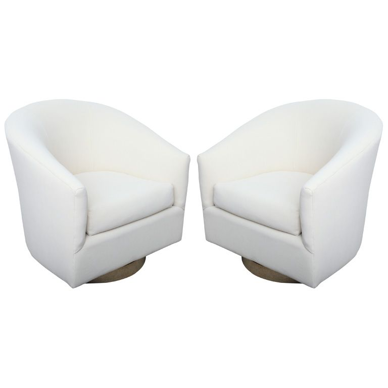 Pair Of High End 1970u0027s Swivel Bucket Chairs | From A Unique Collection Of  Antique