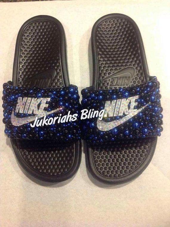 32b31e8bbda02f Bling nike slides nike shoes accessories