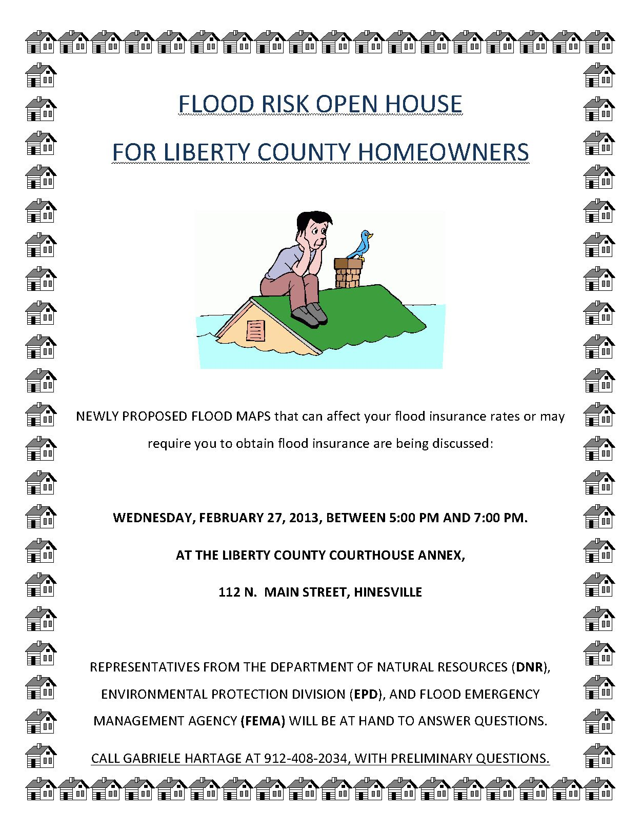 Flood risk information open house for liberty county
