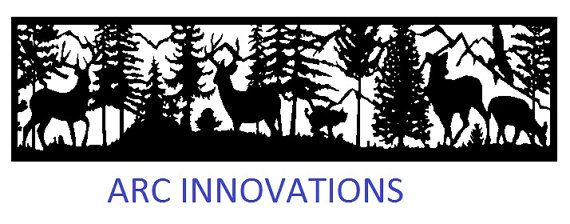 Deer long rectangle DXF file for CNC plasma, laser, router