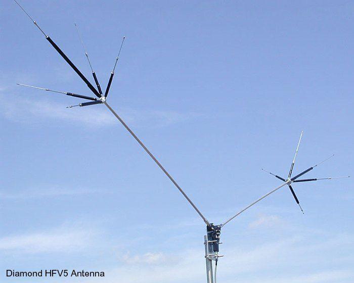 Diamond Hfv5 Antenna Hamradio Pinterest
