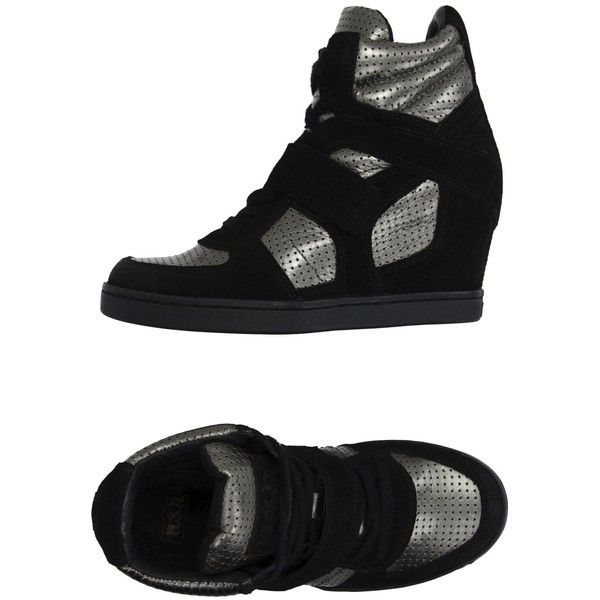 Ash High-tops & Trainers ($135) ❤ liked on Polyvore featuring shoes, sneakers, silver, ash sneakers, leather high top sneakers, animal print sneakers, velcro sneakers and high top shoes