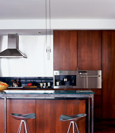 The Kitchen Cabinets Are Veneered In Rift-cut Red Oak