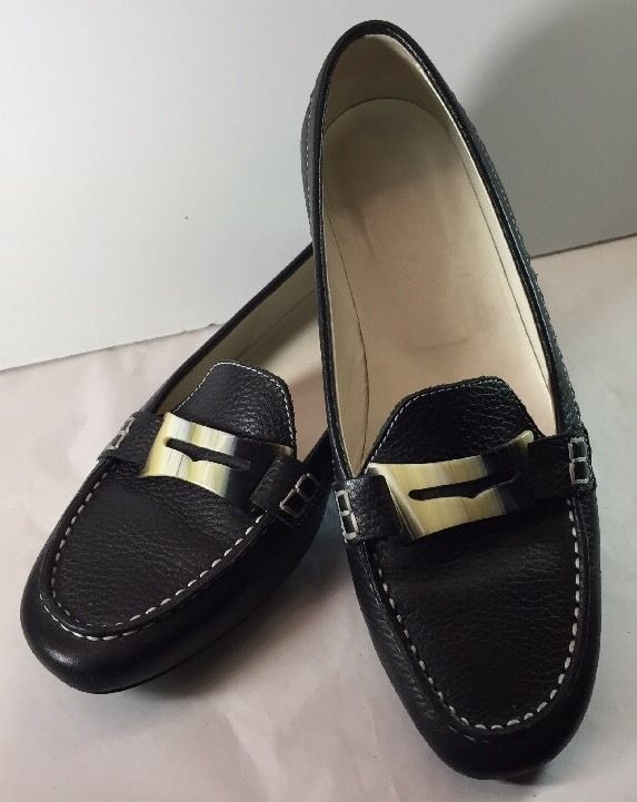 1b8e6c51ce0 TODS Gorgeous Pebbled Leather Driving Penny Loafer Flats Shoe Shell 7 Italy   Tods  LoafersMoccasins