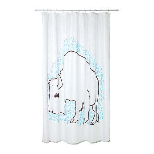 TYDINGEN Shower curtain IKEA Densely-woven polyester fabric with a ...