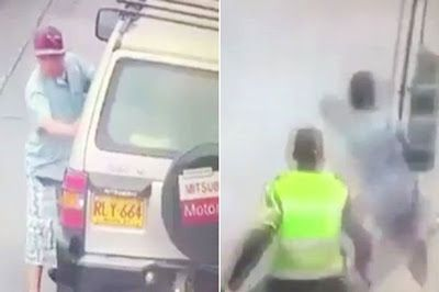 Thief Running From Police Gets Knocked To The Ground By Lorry Driver.... Photos http://ift.tt/2pTinc1