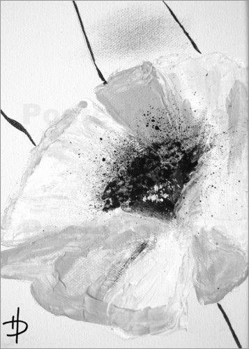 Dubis Heike Kunst-Atelier RaumKunst - Blumen schwarz weiss (2 ...