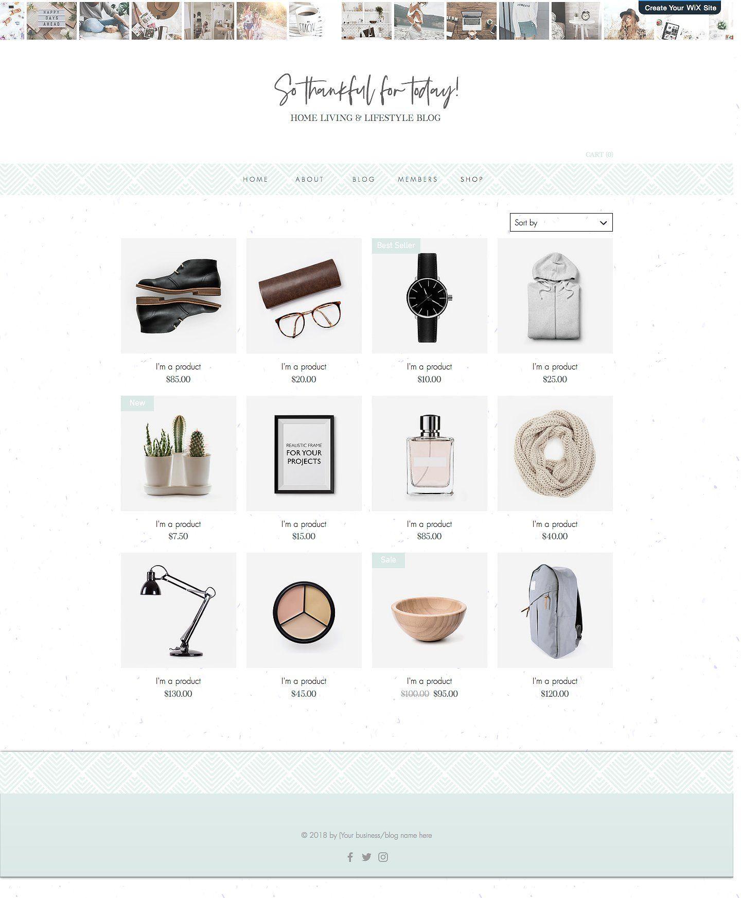 Wix Website, Blog, Shop Template #drops#software#drag