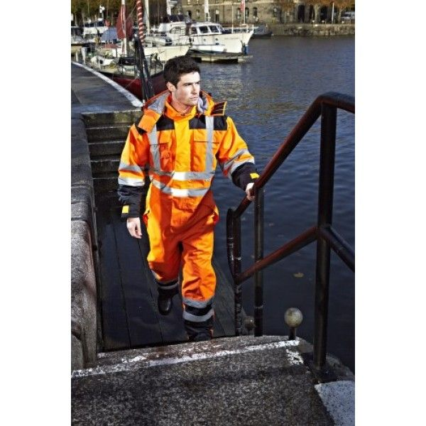 Dickies Workwear High Visibility Waterproof Safety Coverall Overalls SA7000