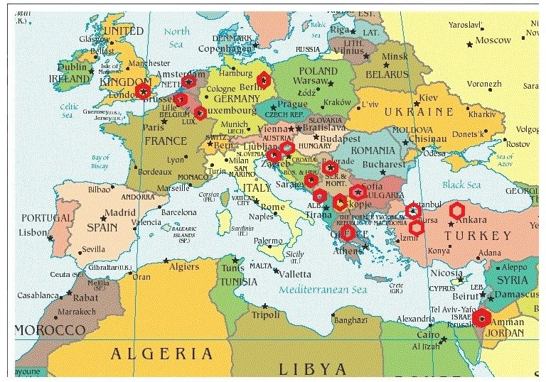 Where we have been working mobilis doo serbiamobilis ltd uk explore map of the mediterranean the map and more gumiabroncs Images